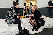 SARAH-JANE BARRY; OLIVIA PALAMOUNTAIN, Launch party for Above magazine. Serpentine Gallery. London. 11 December 2009