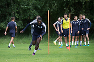 Dundee&rsquo;s Roarie Deacon during the warm up - Dundee FC pre-season training at Michelin Grounds, Dundee, Photo: David Young<br /> <br />  - &copy; David Young - www.davidyoungphoto.co.uk - email: davidyoungphoto@gmail.com