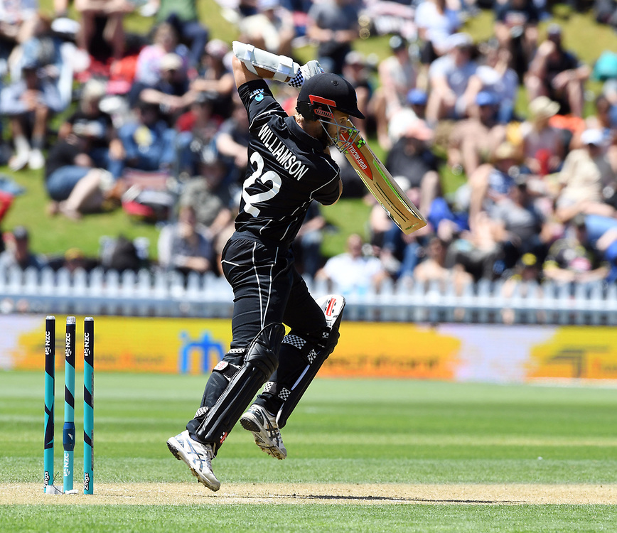 New Zealand's Kane Williamson batting against Pakistan in the first one day cricket international at the Basin Reserve, Wellington, New Zealand, Saturday, January 06, 2018. Credit:SNPA / Ross Setford  **NO ARCHIVING**