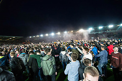 The Exeter and invade the pitch at the final whistle - Mandatory by-line: Gary Day/JMP - 18/05/2017 - FOOTBALL - St James Park - Exeter, England - Exeter City v Carlisle United - Sky Bet League Two Play-off Semi-Final 2nd Leg