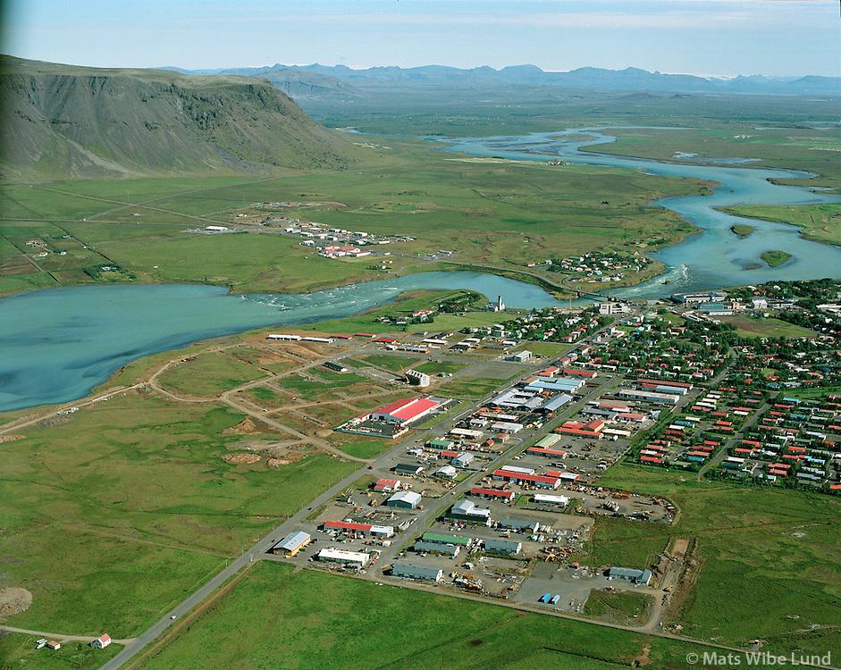 Selfoss, ny byggingasvæði. 2001.Selfoss new building site. .Árborg frá 1998 / Arborg since 1998.