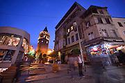 Galata Tower and Istiklal Street, Istanbul, Turkey