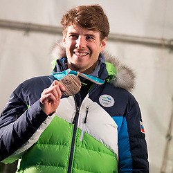 20180316: SLO, Events - Reception of Bronze Medalist from Olympic Games, Zan Kosir