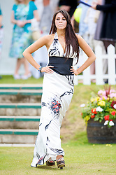 LIVERPOOL, ENGLAND - Saturday, June 20, 2009: Tyla Sewell of John Alexander Model Agency wearing the new Summer/Autumn collection from AllMac Designs during a fashion show on Day Four of the Tradition ICAP Liverpool International Tennis Tournament 2009 at Calderstones Park. (Pic by David Rawcliffe/Propaganda)
