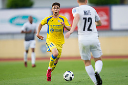 Adam Gnezda Cerin of NK Domzale during football match between NK Domzale and NK Ankaran Hrvatini in Round #30 of Prva liga Telekom Slovenije 2017/18, on May 2nd, 2018 in Sports Park Domzale, Domzale, Slovenia. Photo by Urban Urbanc / Sportida