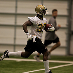 21 May 2009: Saints running back Lynell Hamilton (30) participates in drills during the New Orleans Saints Organized Team Activities (OTA's) held at the team's indoor practice facility in Metairie, Louisiana.