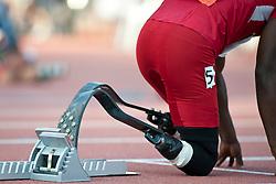 Behind the scenes, LEEPER Blake, USA, 400m, T44, 2013 IPC Athletics World Championships, Lyon, France