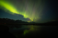 Camping under Aurora along Knik River