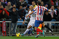 09.12.2012 SPAIN -  La Liga 12/13 Matchday 15th  match played between Atletico de Madrid vs R.C. Deportivo de la Courna (6-0) at Vicente Calderon stadium. The picture show Laureano Sanabria (Player of R.C. Deportivo)