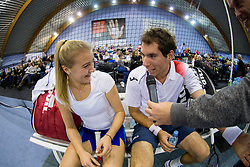 Nina Potocnik and Janez Semrajc at Tennis exhibition day and Slovenian Tennis personality of the year 2013 annual awards presented by Slovene Tennis Association TZS, on December 21, 2013 in BTC City, TC Millenium, Ljubljana, Slovenia.  Photo by Vid Ponikvar / Sportida