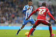 Brighton striker, Rajiv van La Parra (27) during the Sky Bet Championship match between Brighton and Hove Albion and Middlesbrough at the American Express Community Stadium, Brighton and Hove, England on 19 December 2015.