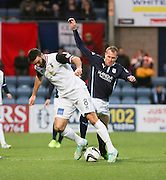 Dundee's David Clarkson and Inverness' Ross Draper  - Dundee v Inverness Caledonian Thistle, SPFL Premiership at Dens Park <br /> <br />  - &copy; David Young - www.davidyoungphoto.co.uk - email: davidyoungphoto@gmail.com