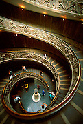 ITALY, ROME, Vatican, double level entry ramp into the Vatican Museums built in 1932 by Giuseppe Momo