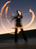 NEWS&amp;GUIDE PHOTO / PRICE CHAMBERS<br /> Emily Brumsted learned how to firedance while living in Hawaii and now teaches a class on it at the Center for the Arts. The Jackson native has a new class starting in January.