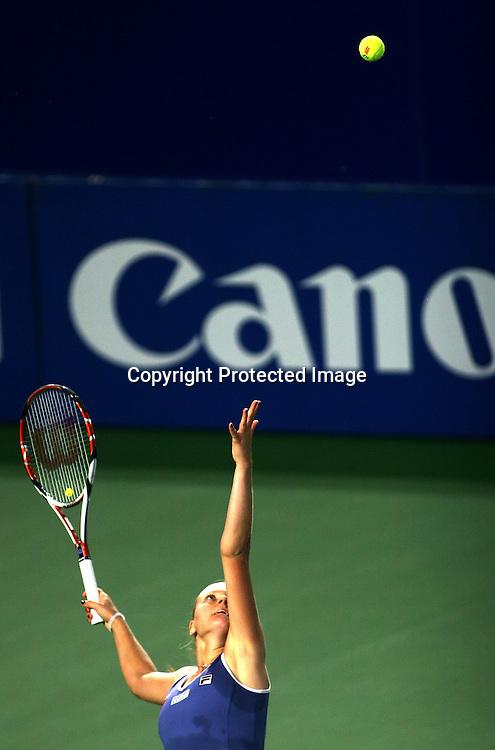 Sep 23, 2008, Beijing, China, Agnes Szavay of Hungary 2:0 Yaroslava Shvedova of Kazakstan in the first round of China Open at the Beijing Tennis Center.