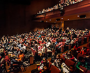 A crowd of youngsters fill SOPAC for the performance of Schoolhouse Rock.