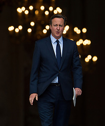 © Licensed to London News Pictures. 07/07/2015. London, UK. DAVID CAMERON leaving the service. . A church service held at St Paul's Cathedral In London on the 10th anniversary of the 7/7 bombings in London which killed 52 civilians and injured over 700 more.  Photo credit: Ben Cawthra/LNP