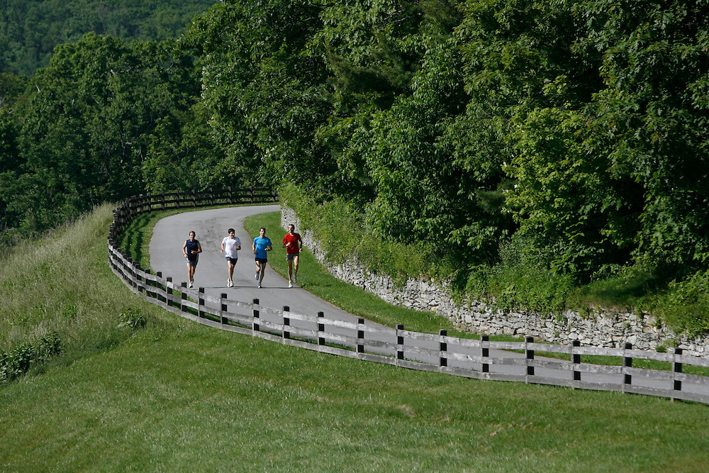 Zap Fitness athletes go through a training run at Moses H. Cone Memorial Park in Boiling Rock, NC.