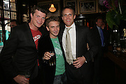 Jack Kidd, Dan Stein and Jamie Morrison, PJ's Annual Polo Party . Annual Pre-Polo party that celebrates the start of the 2007 Polo season.  PJ's Bar & Grill, 52 Fulham Road, London, SW3. 14 May 2007. <br />