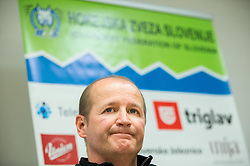 Nik Zupancic, head coach during press conference of Slovenian Ice Hockey National Team at training camp, on February 8th, 2016 in Ledna dvorana, Bled, Slovenia. Photo by Vid Ponikvar / Sportida
