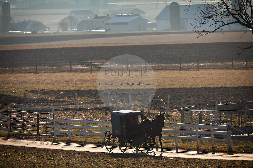 Amish horse buggy in Gordonville, PA.