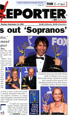 The Emmy's.  Cover of The Hollywood Reporter.  Photos by German Silva.