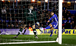 Che Adams of Birmingham City has a shot at goal - Mandatory by-line: Robbie Stephenson/JMP - 03/03/2017 - FOOTBALL - St Andrew's Stadium - Birmingham, England - Birmingham City v Leeds United - Sky Bet Championship