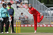Lancashire Thunders Sophie Ecclestone during the Women's Cricket Super League match between Lancashire Thunder and Surrey Stars at the Emirates, Old Trafford, Manchester, United Kingdom on 7 August 2018.