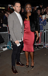 James O'Keefe and Beverley Knight  attend The 10th What's On Stage Awards at The Prince Of Wales Theatre, London on Sunday 15  February 2015
