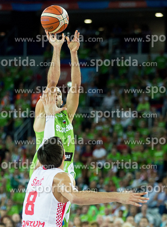 Nebojsa Joksimovic of Slovenia during basketball match between Croatia and Slovenia at Day 1 in Group C of FIBA Europe Eurobasket 2015, on September 5, 2015, in Arena Zagreb, Croatia. Photo by Vid Ponikvar / Sportida