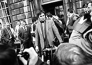 Dublin Central independent TD Tony Gregory arrives to take his seat in the Dáil.<br /> 9 March 1982