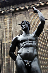 Statue outside Pergamon Museum on  Museumsinsel in Berlin Germany