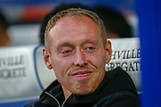 Swansea City manager Steve Cooper during the EFL Sky Bet Championship match between Queens Park Rangers and Swansea City at the Kiyan Prince Foundation Stadium, London, England on 21 August 2019.