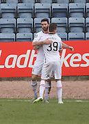 Inverness&rsquo; Ross Draper celebrate with Inverness&rsquo; Miles Storey after scoring his side's goal - Dundee v Inverness Caledonian Thistle - Ladbrokes Scottish Premiership at Dens Park<br /> <br />  - &copy; David Young - www.davidyoungphoto.co.uk - email: davidyoungphoto@gmail.com