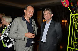 Left to right, TOM DIXON and DEYAN SUDJIC at a dinner at The Bulgari Hotel, 171 Knightsbridge to celebrate The London Design Festival on 13th September 2016.