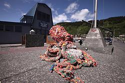 USA ALASKA 29JUN12 - Fishermens' memorial near the harbour master office in Kodiak, Alaska.....Photo by Jiri Rezac / Greenpeace