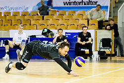 Klemen Hribar of Calcit Volley during 3rd Leg volleyball match between ACH Volley and OK Calcit Volley in Final of 1. DOL Slovenian National Championship 2017/18, on April 24, 2018 in Hala Tivoli, Ljubljana, Slovenia. Photo by Matic Klansek Velej / Sportida