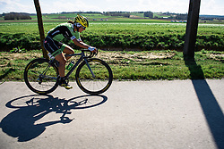Rosella Ratto battles to stay in touch with the leaders on the flat run in to the finish in Oudenaarde - Women's Ronde van Vlaanderen 2016. A 141km road race starting and finishing in Oudenaarde, Belgium on April 3rd 2016.