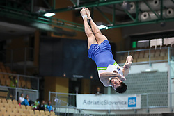 Rok Klavora of Slovenia competes in Floor during Qualifications of Artistic Gymnastics FIS World Challenge Koper 2017, on May 12, 2017 in Arena Bonifika, Koper, Slovenia. Photo by Matic Klansek velej/ Sportida