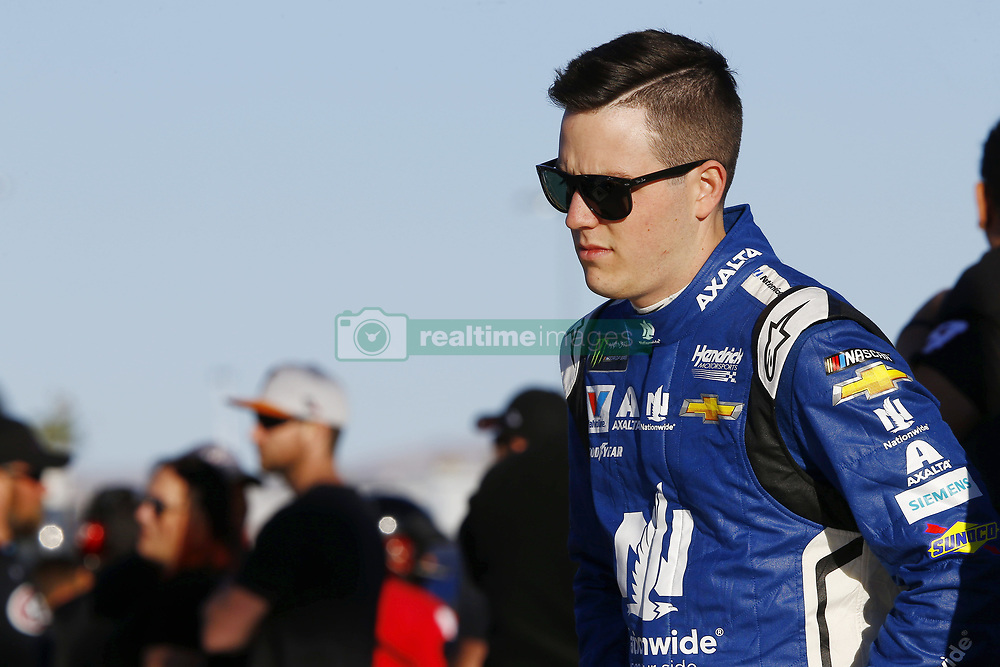 March 2, 2018 - Las Vegas, Nevada, United States of America - March 02, 2018 - Las Vegas, Nevada, USA: Alex Bowman (88) hangs out on pit road before qualifying for the Pennzoil 400 at Las Vegas Motor Speedway in Las Vegas, Nevada. (Credit Image: © Chris Owens Asp Inc/ASP via ZUMA Wire)