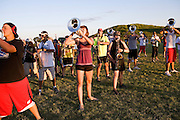 The Oregon Marching Band practices in Oregon, Wisconsin on June 29, 2010.