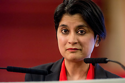 © Licensed to London News Pictures. 23/04/2015. Central Hall Westminster, London, UK. Shami Chakrabarti CBE from Liberty  attending the Vote For Justice Rally, organised by the LCCSA, (London Criminal Courts Solicitor's Association). Photo credit : David Tett/LNP
