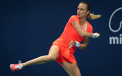March 21, 2019 - Miami, FLORIDA, USA - Magdalena Rybarikova of Slovakia in action during her first-round match at the 2019 Miami Open WTA Premier Mandatory tennis tournament (Credit Image: © AFP7 via ZUMA Wire)