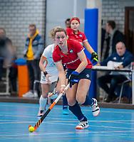 ROTTERDAM -  Lieke van Wijk, dames Hurley-Oranje Rood, Hurley plaatst zich voor halve finales NK  ,hoofdklasse competitie  zaalhockey.   COPYRIGHT  KOEN SUYK