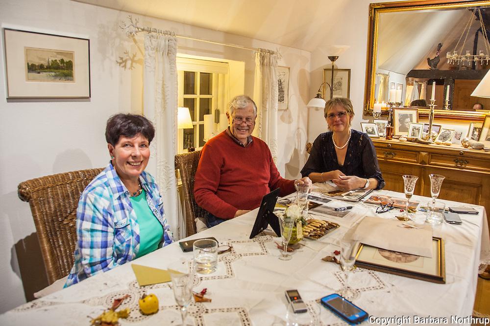 Connie & Jochen's house in Kleinmeinsdorf, Germany.<br /> Klaus' cousin Karin, Klaus, Connie