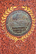 Boston Marathon monument in Copley Square, Boston, Massachusetts