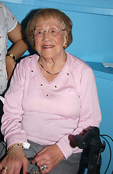 HILDA HOWARD mother of Michael Howard at a party to celebrate the publication of Glass Houses by Sandra Howard held at Tamesa, Oxo Tower Wharf, Barge House Street, London SE1 on 5th September 2006.<br />