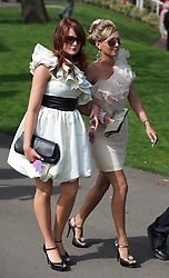 LIVERPOOL, ENGLAND - Friday, April 9, 2010: Female race-goers attend Ladies' Day during the second day of the Grand National Festival at Aintree Racecourse. (Pic by David Rawcliffe/Propaganda)