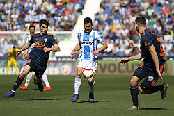 February 24, 2019 - Leganes, Madrid, Spain - Oscar of Leganes in action during La Liga Spanish championship, football match between Leganes and Valencia, February 24th, Butarque stadium, in Leganes, Madrid, Spain. (Credit Image: © AFP7 via ZUMA Wire)