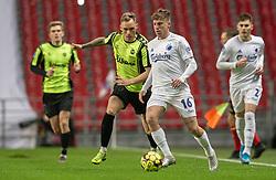 Pep Biel (FC København) og Jacob Barrett Laursen (OB) under kampen i 3F Superligaen mellem FC København og OB den 16. december 2019 i Telia Parken, København (Foto: Claus Birch).